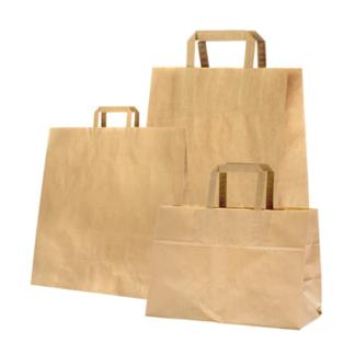 Papir bærepose brun