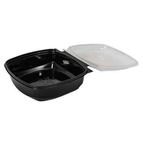 Square bowl med åben låg