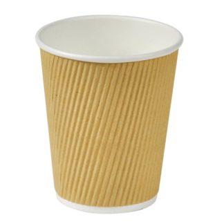 Kaffebæger ripple wall brun, 25 cl
