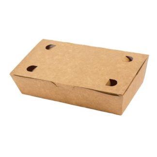Pølseæske med låg brun