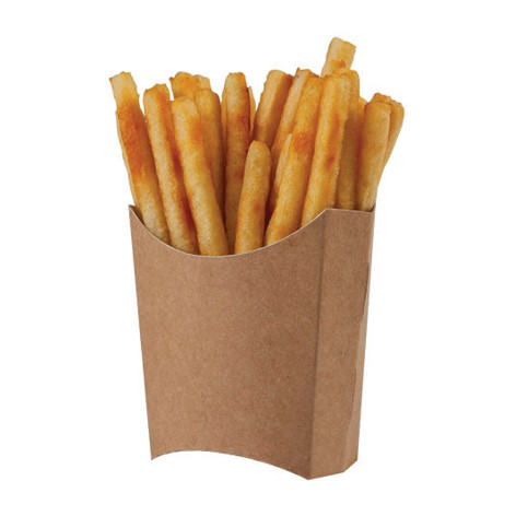 pommes frites bakke brun kraft