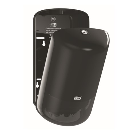 Tork Mini Centerfeed M1 Dispenser åben - sort