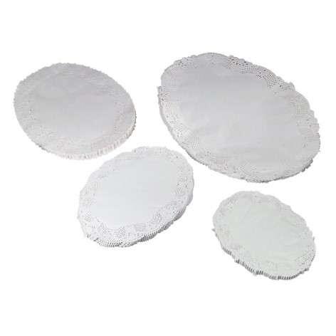Kagepapir udhugget oval