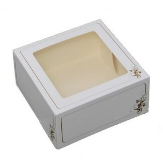 kageæske 250x250x80 med guldtryk
