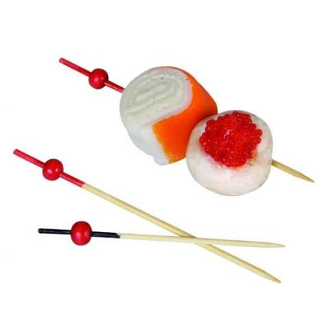 Bambussspyd med rød kugle
